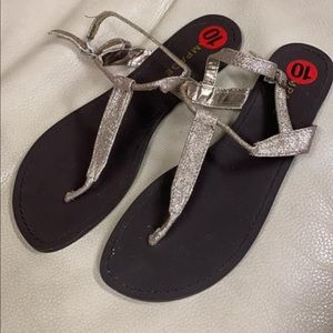New! Rampage Gold Tone Sandals size 10
